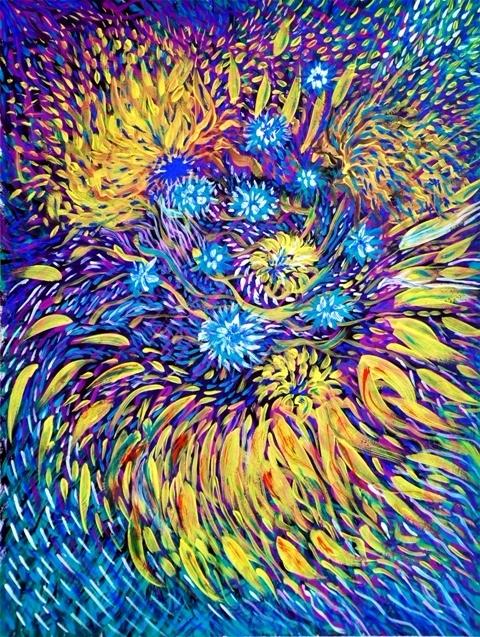 Синий Цветок. это первый рисуно - olgapetrenko   ello
