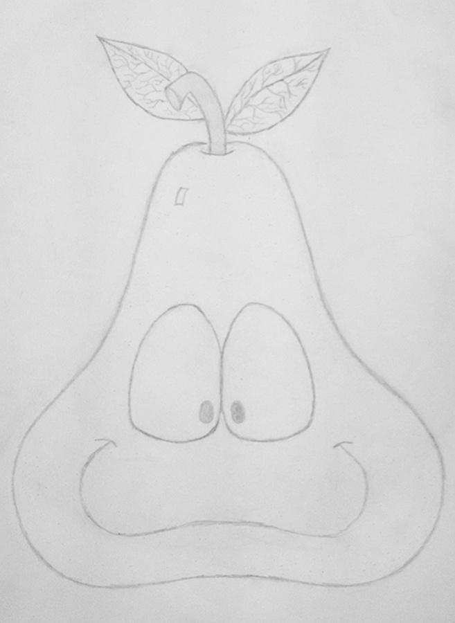 Peary Happy - drawing, sketch, pencil - kut-n-paste | ello