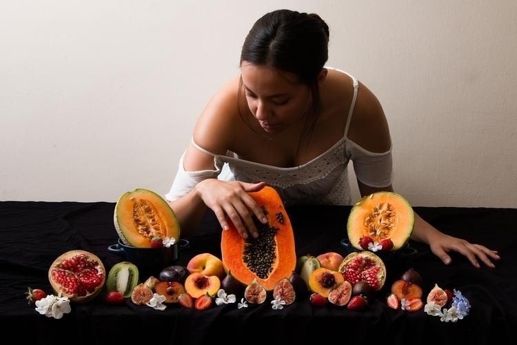 (2 - texture, fruit, portrait, woman - yiramos | ello