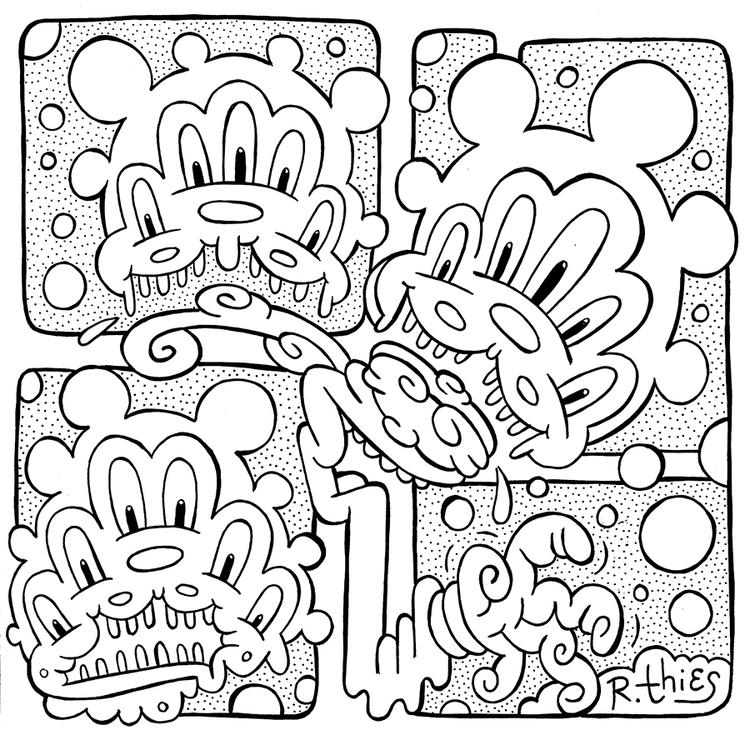 Mutating Mickey Triplicate - rthies - rthies | ello