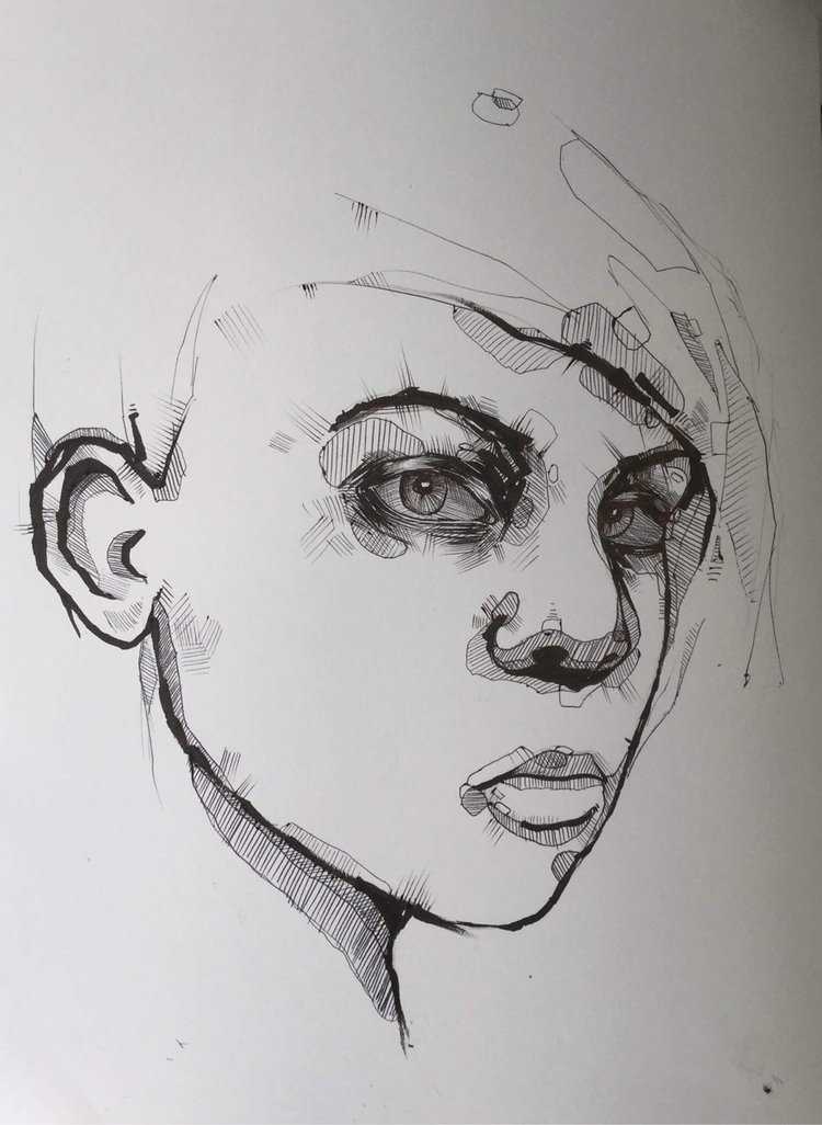 minimalist portrait drawings, l - jordansummers | ello