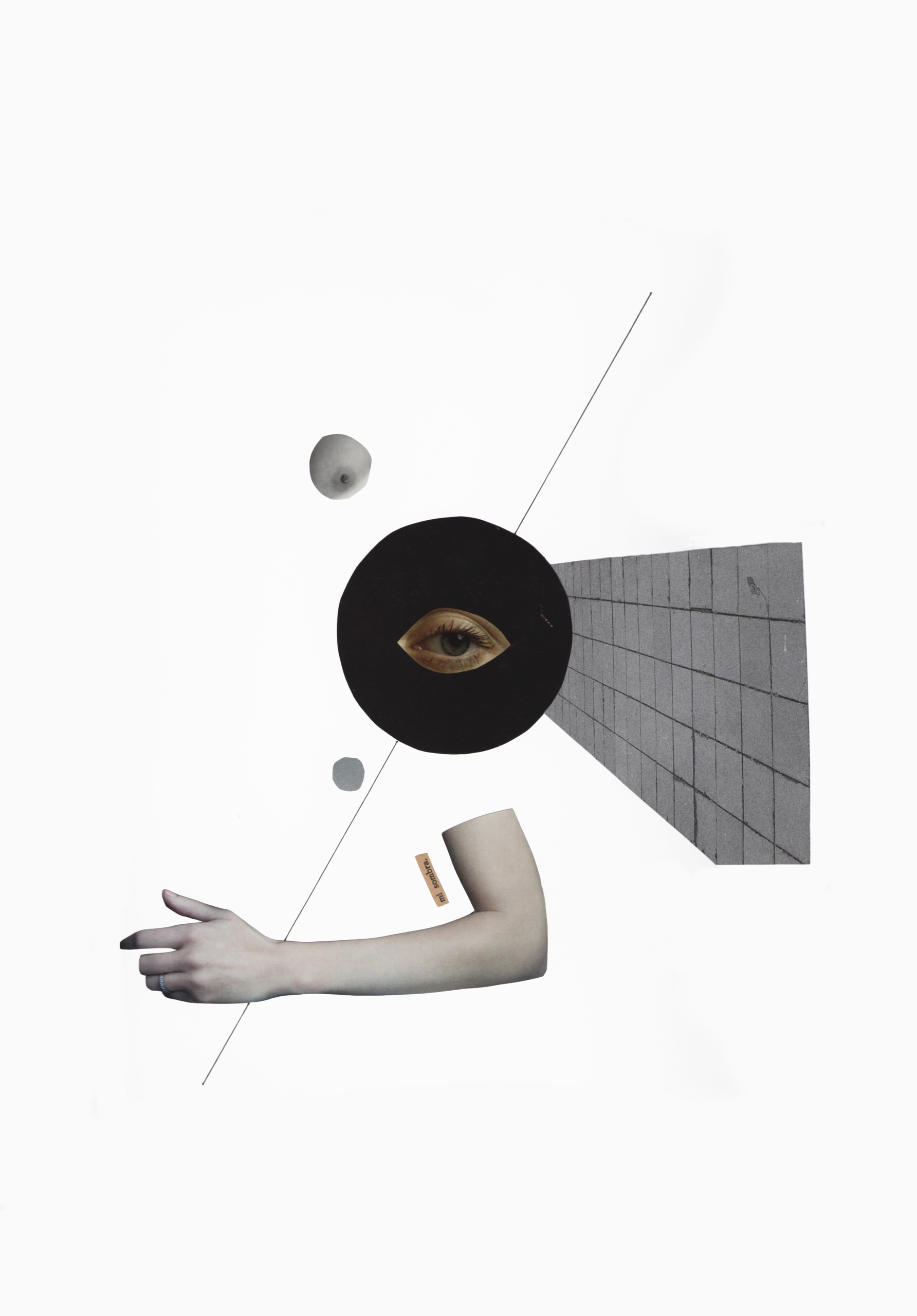 mi sombra collage - paper, artwork - marianagv | ello