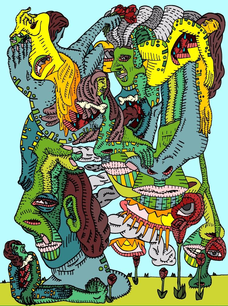 Good Bad Trip - popsurrealism, psychosurrealism - au_haus | ello