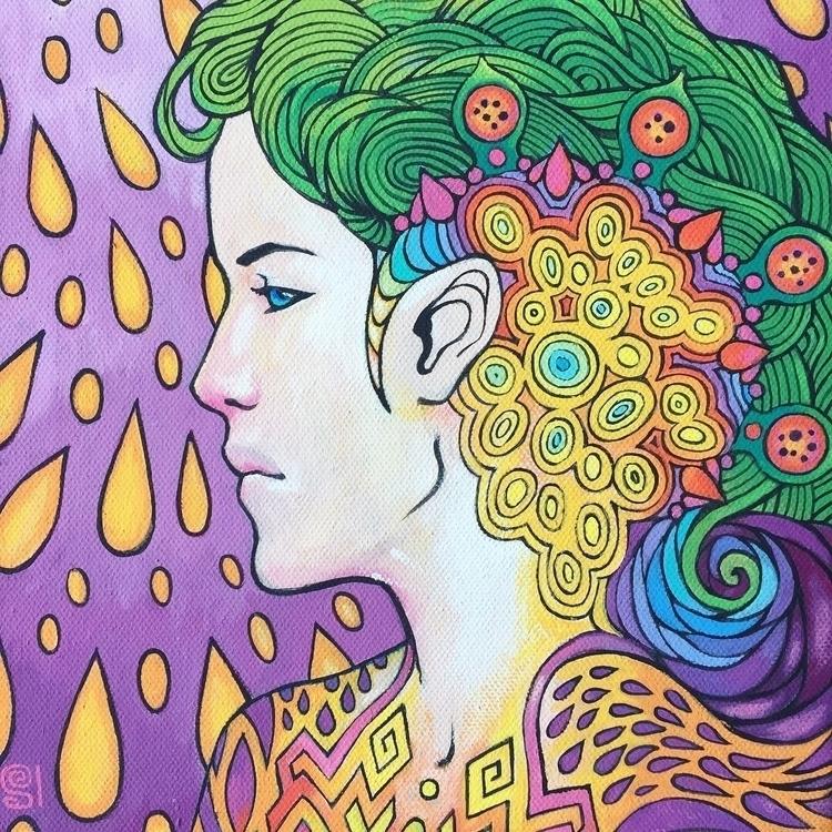 ANDROMEDA acrylic painting canv - evesolar | ello