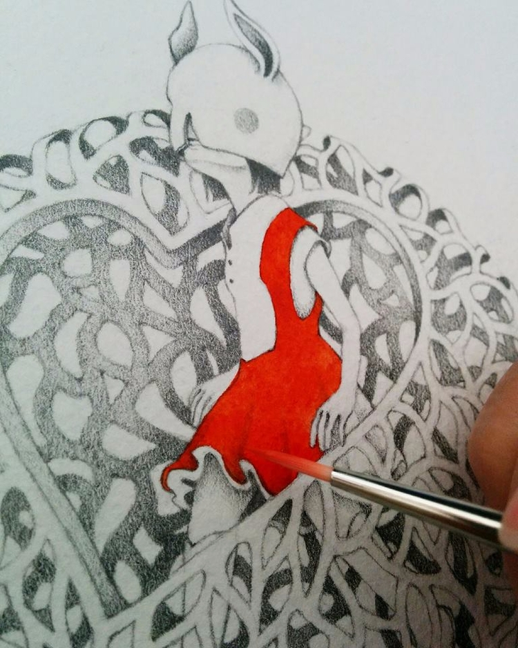 Adding red drawing - JoleneLai, art - enelojial | ello