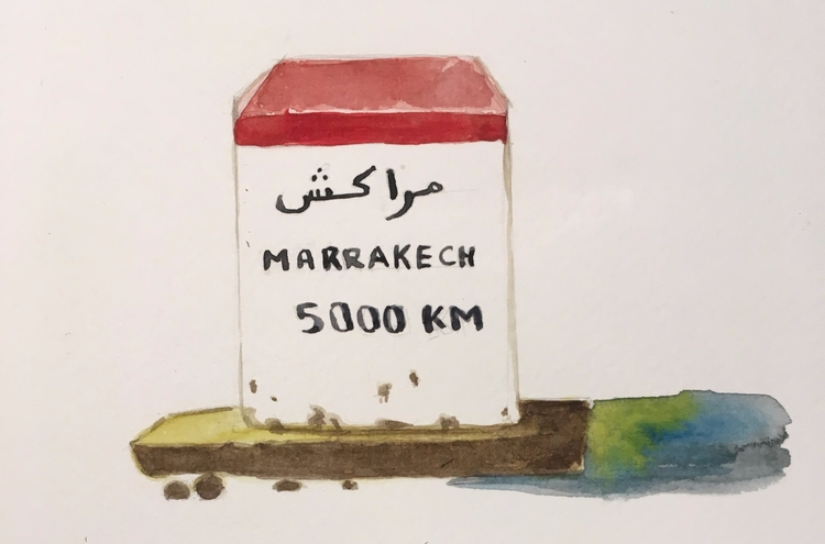 nafri, travel, morocco, illustration - meriamk | ello