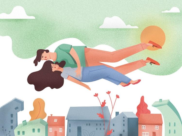 illustration, overthetown - zmagumyan | ello