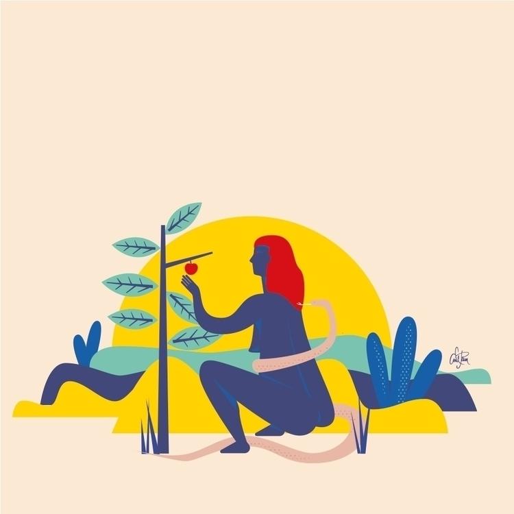Eve. WIP. Working illustration  - maqina | ello