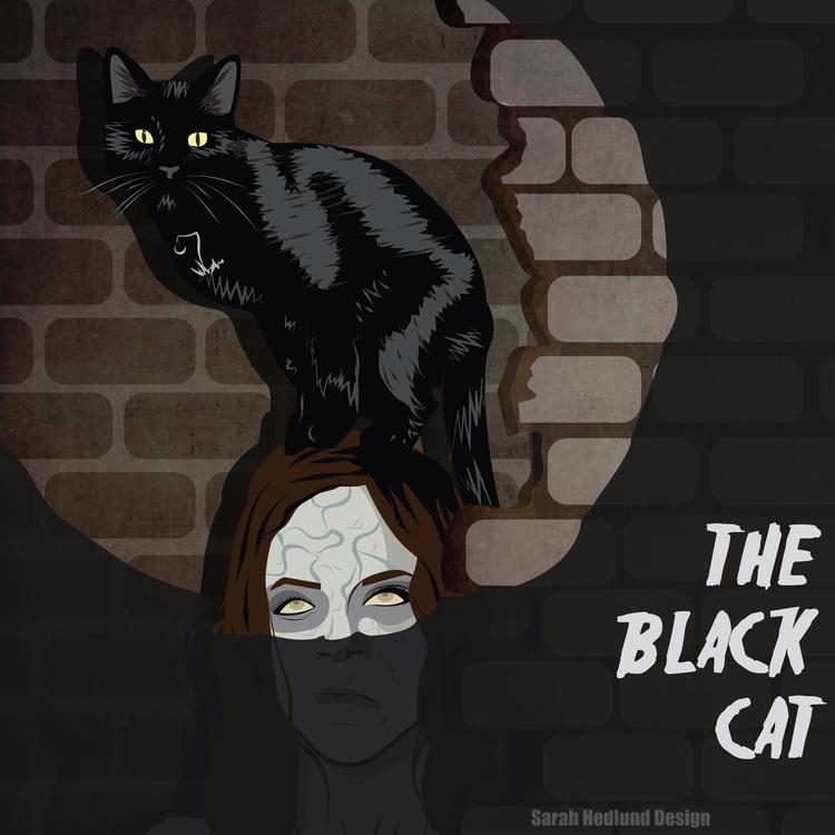 Black Cat - Edgar Allan Poe Man - sarahhedlunddesign | ello