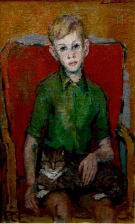 Fred met poes (Fred cat), 1948 - noudio | ello