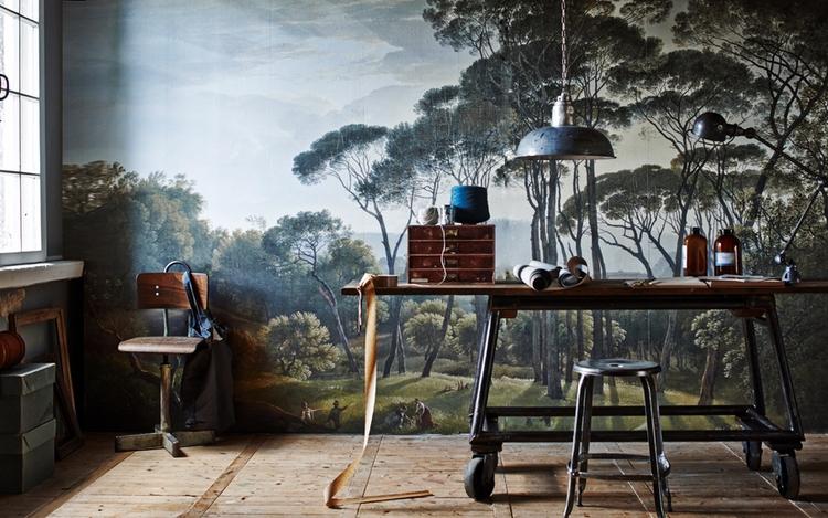 Le papier peint fresque apporte - atelierrueverte | ello