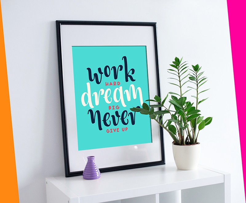 Quote day: Work hard, dream big - exonika_designs | ello