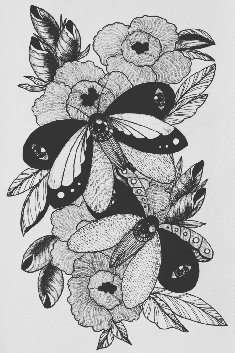 dotwork, linework, ink - dtlecky | ello