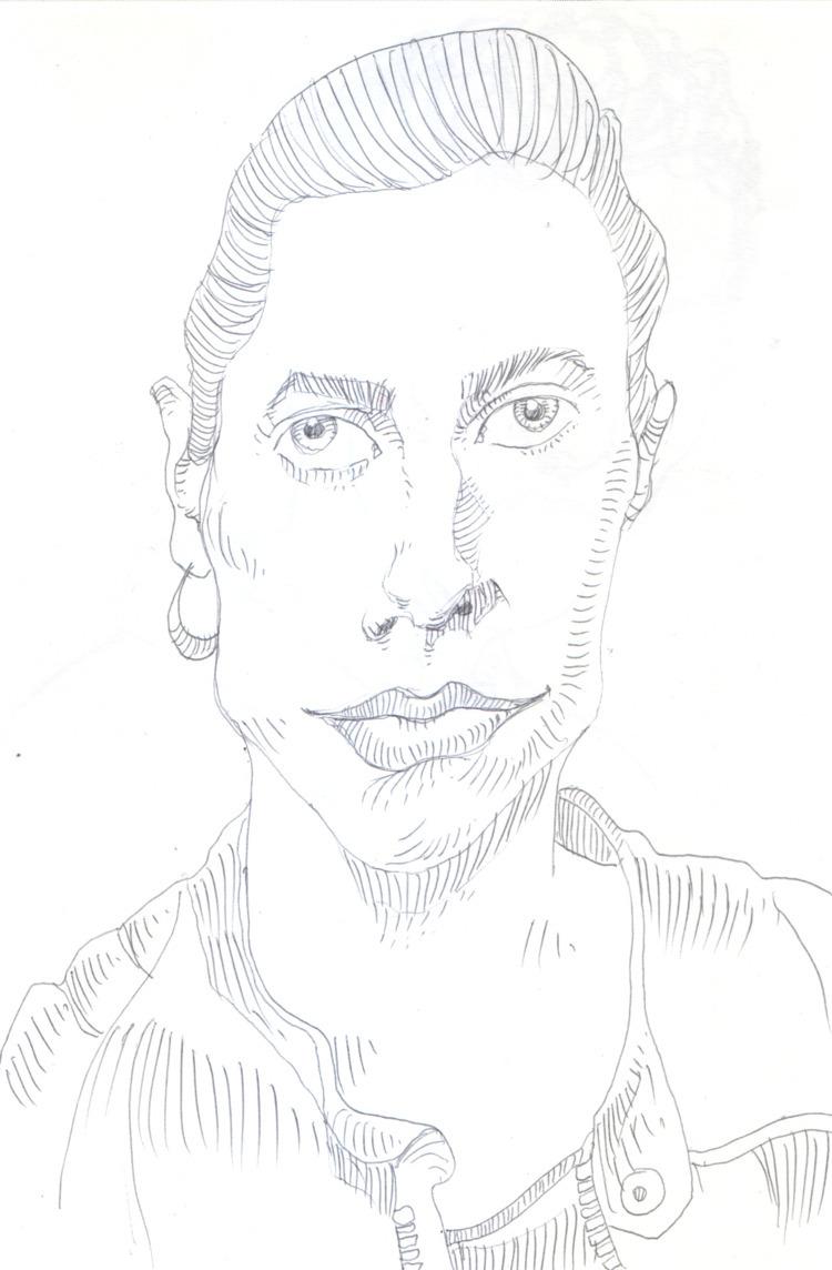 Ink sketch singer, guess - crooked - nkdk | ello