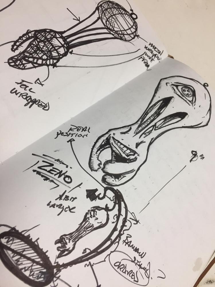 Creature sculpture - creature, designscketch - robwelch | ello