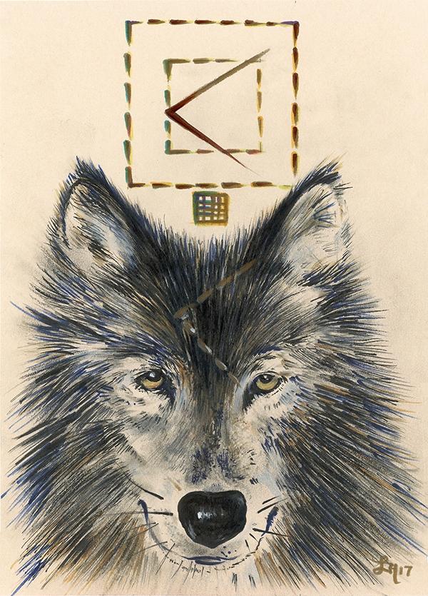 Wolf. // Wolves multidimensiona - letters | ello