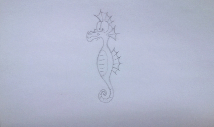 Seahorse - drawing, sketch, pencil - kut-n-paste | ello
