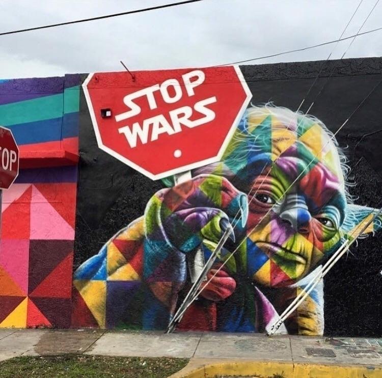 Stop Wars - StreetArt, artoftheday - bitfactory | ello