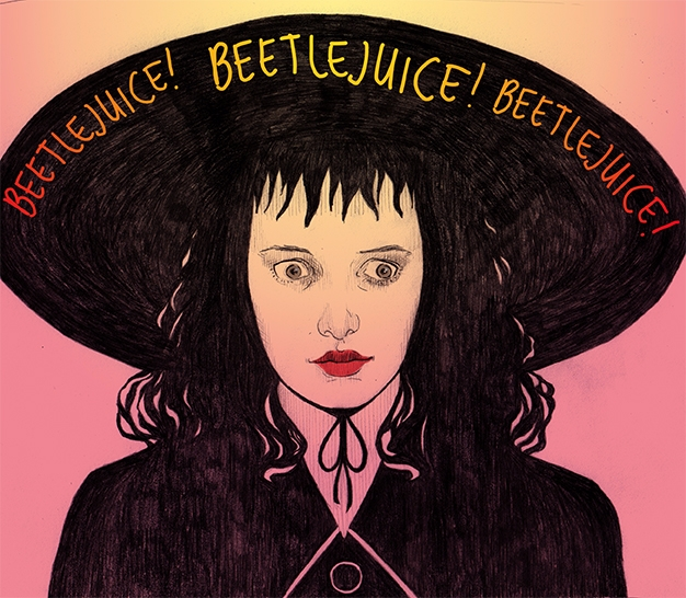 Lydia Deetz. Halloween month - illustration - vanniapalacio | ello