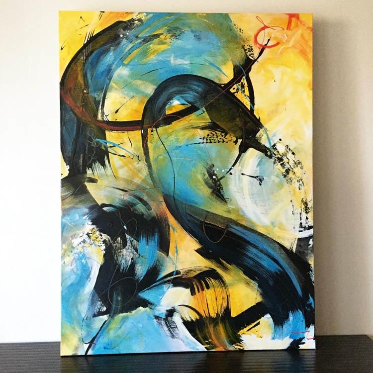 Left Unsaid, acrylic canvas - abstractart - lynettemelnyk | ello