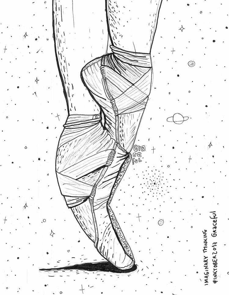 Daily drawing - graceful, 537, inktober - imaginarythinking | ello
