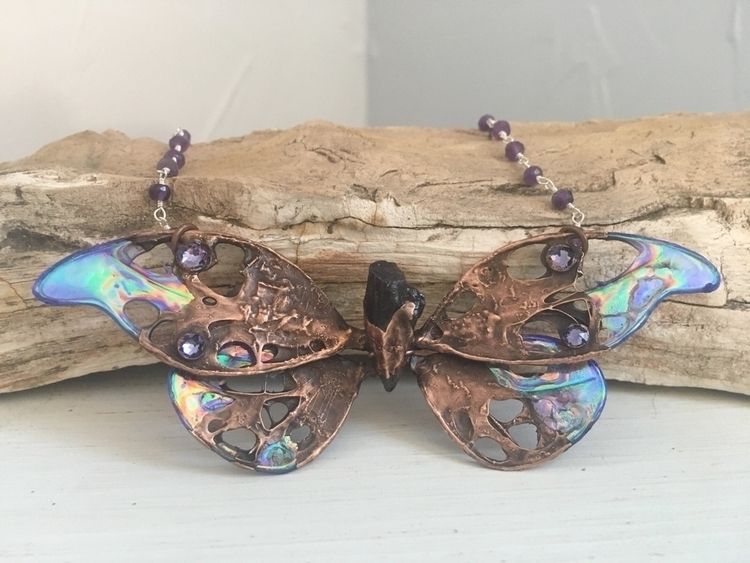 butterfly necklace ready fly 🦋  - faerieblessings | ello