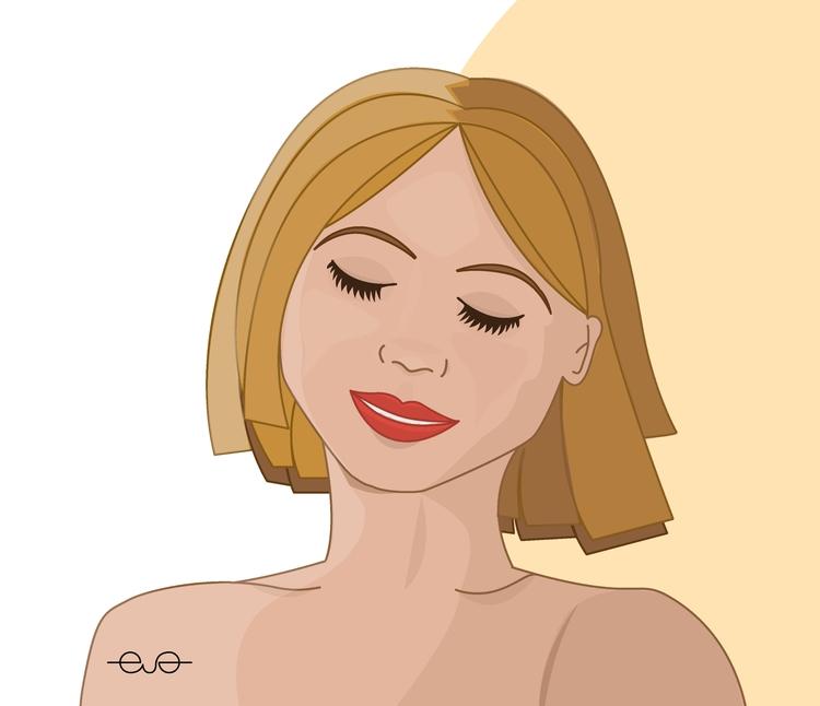 illustration, draw, design, girl - evafer | ello