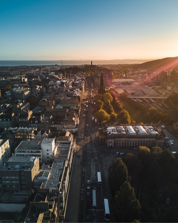 Sunrise Edinburgh - scotland, drone - charlespacque | ello