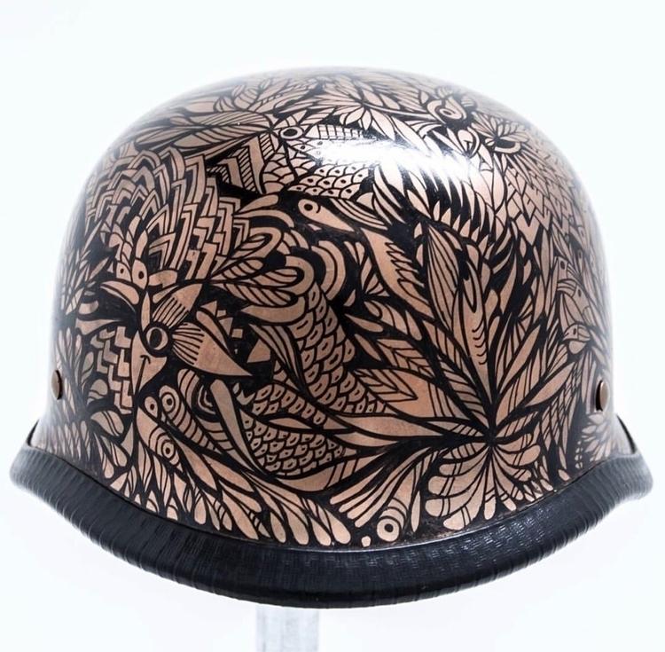 Handpainted Helmet Submitted [A - lisaottevangergraphicartist | ello