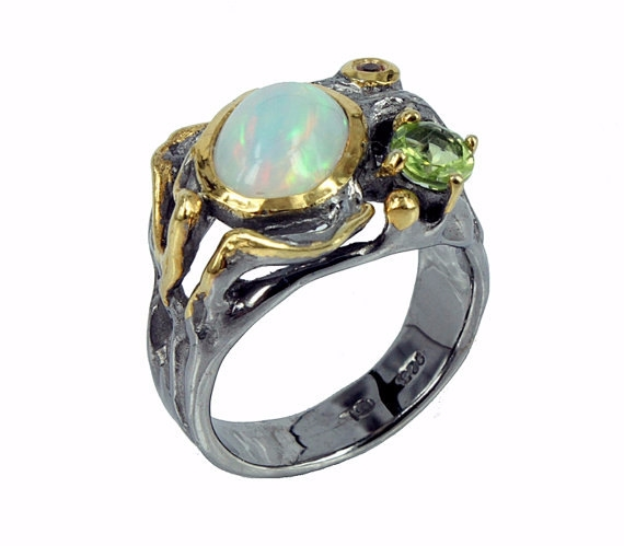 Opal Ring, Ethiopian October Bi - zoominjewels | ello