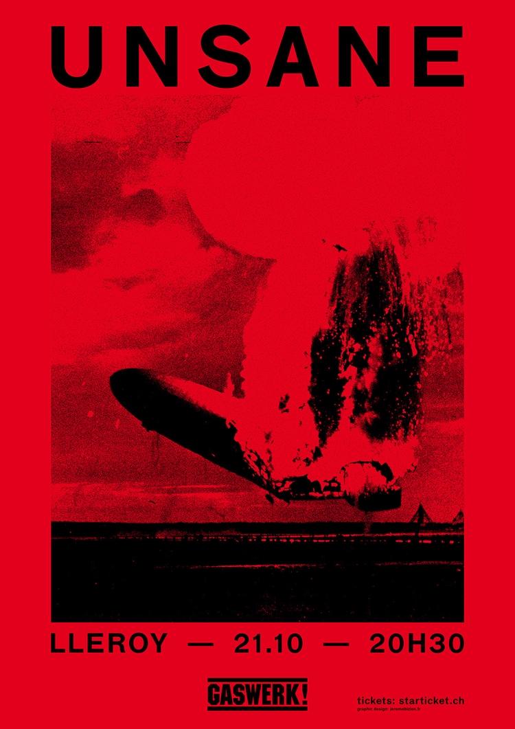 Poster Unsane, playing live Gas - jeromebizien | ello
