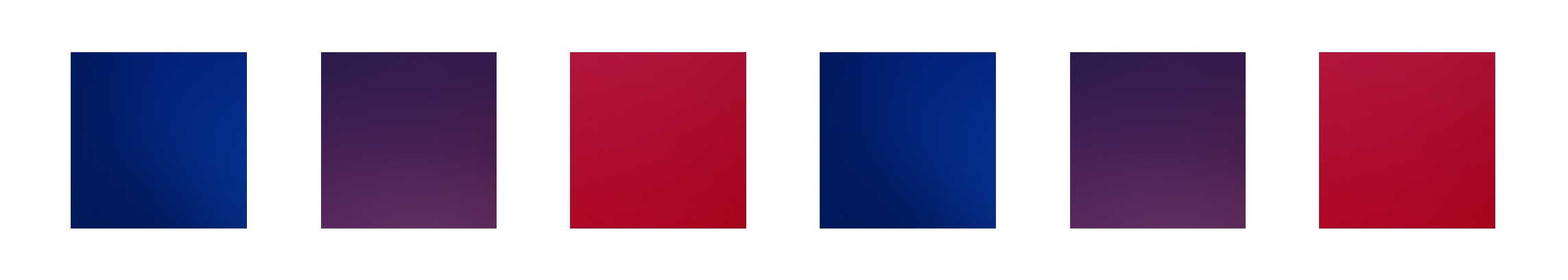 Obraz przedstawia kwadraty w jednej linii, w trzech kolorach.