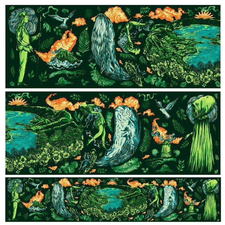 Scarf illustration representing - nicolaenegura | ello