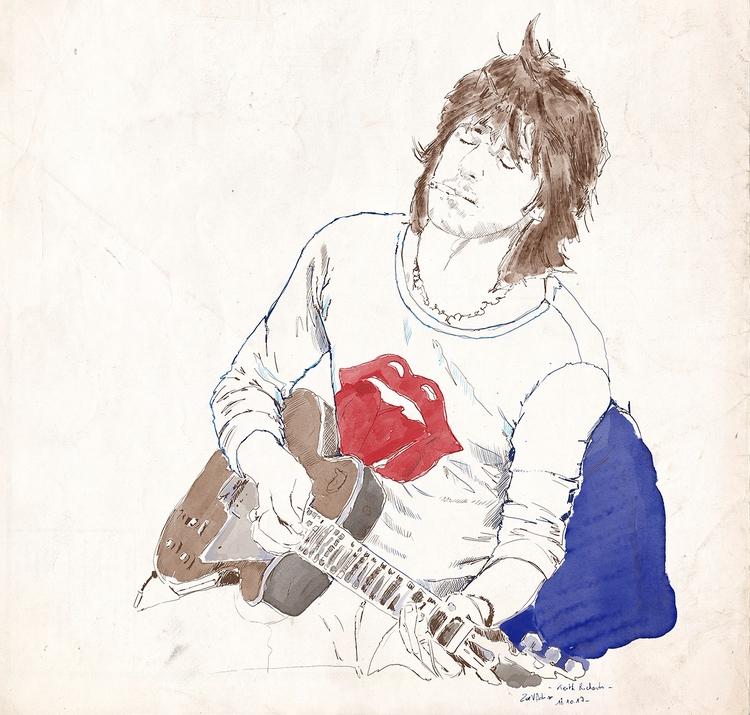 Keith - illustration, mixedmedia - zoe_vadim | ello