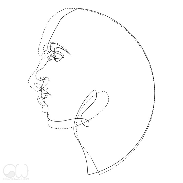simple abstract line - illustration - gedankenwall | ello