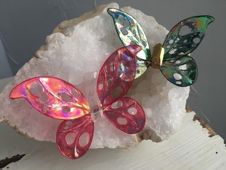 Custom order crystal butterflie - faerieblessings   ello