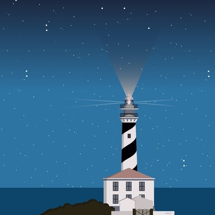 Night - menorca, illustration, digitalillustration - roserolivella | ello