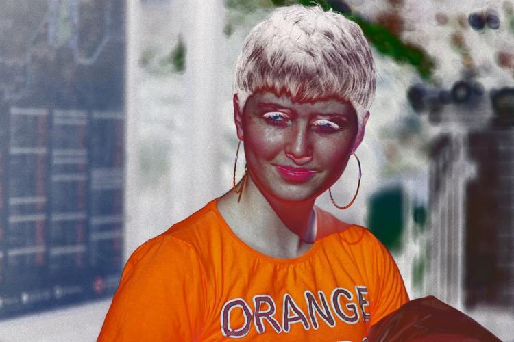 Portraiture Experiment - ORANGE - errornes | ello