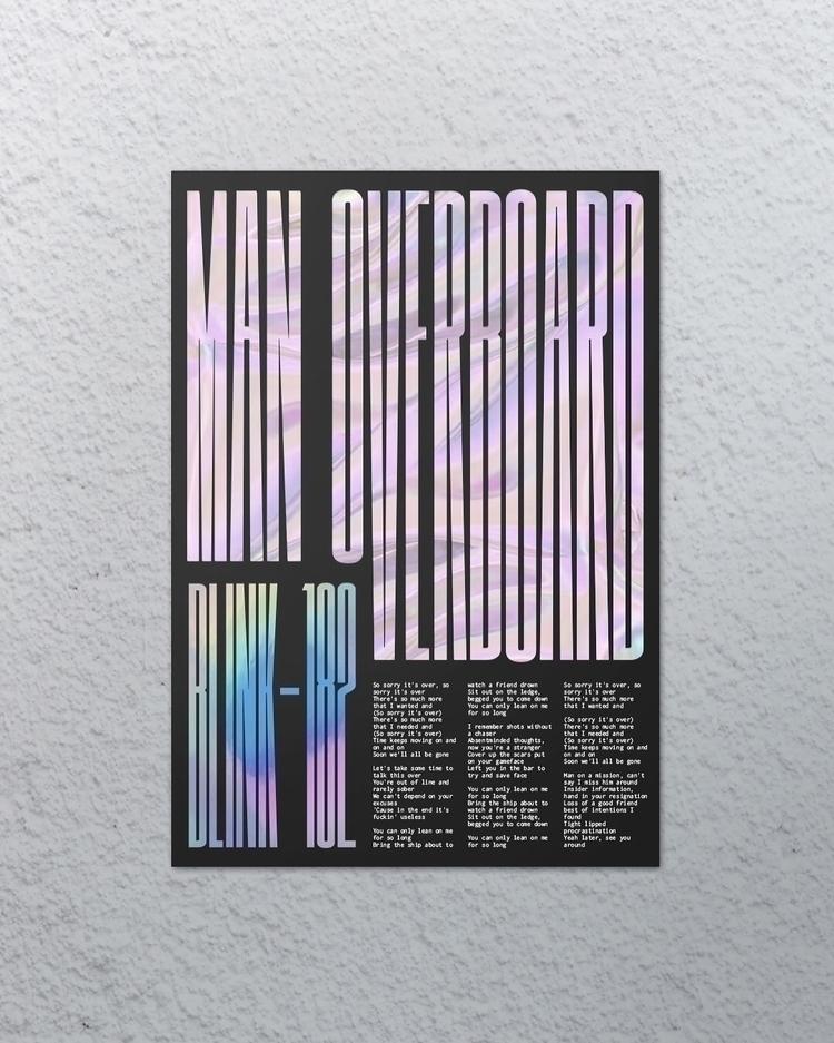 Man overboard - Blink-182 - design - manuelfcg | ello