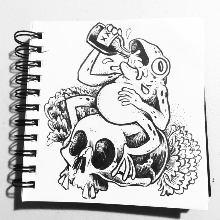 Hangin drink draw Red Door Enci - royallyeric | ello