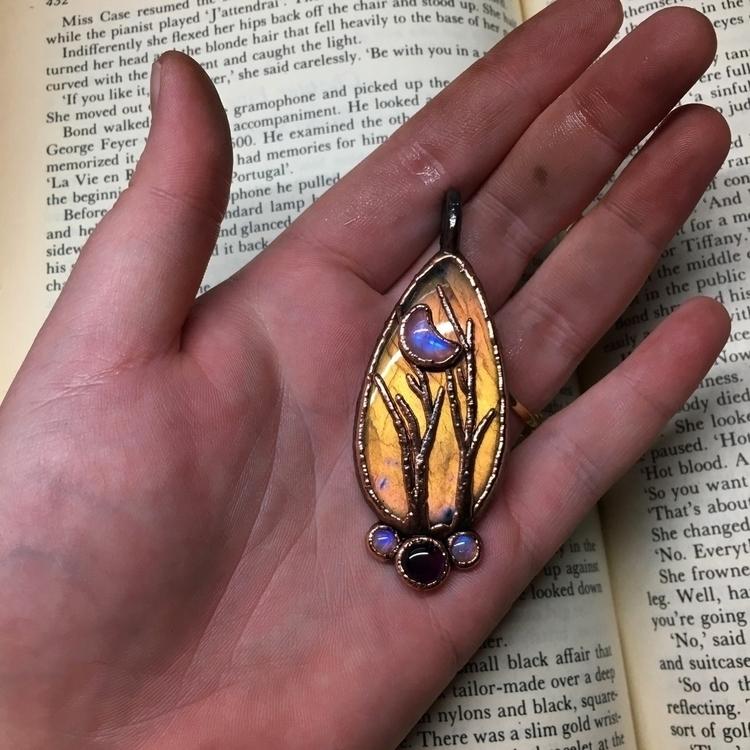 finished beautiful pendant nigh - downtonaturejewelry | ello