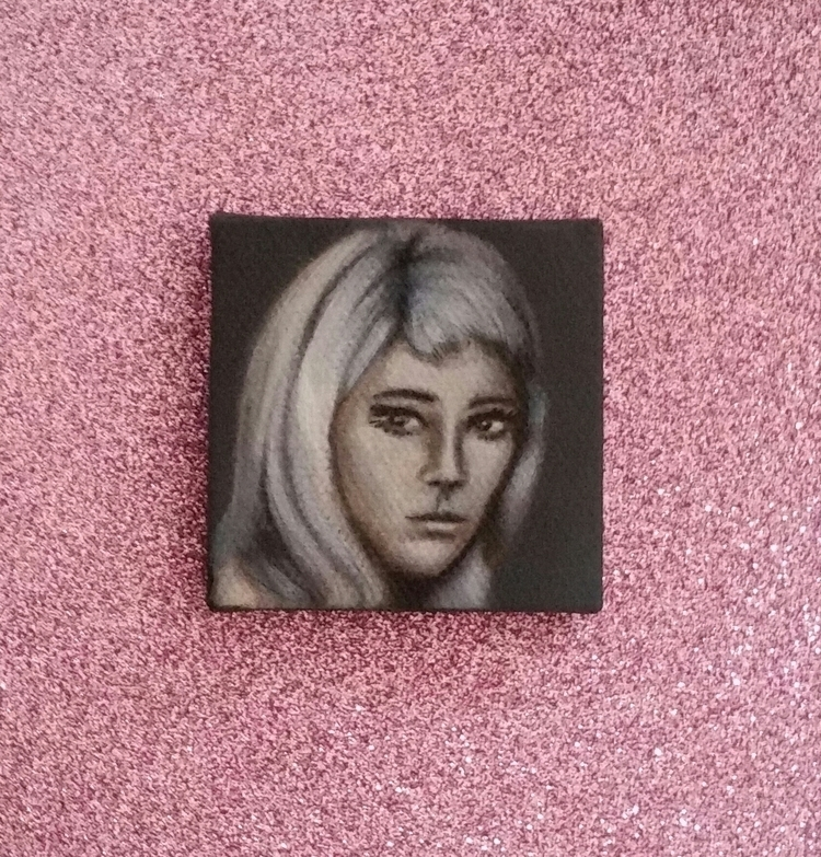 Mini oil painting Nancy Sinatra - nora_ | ello