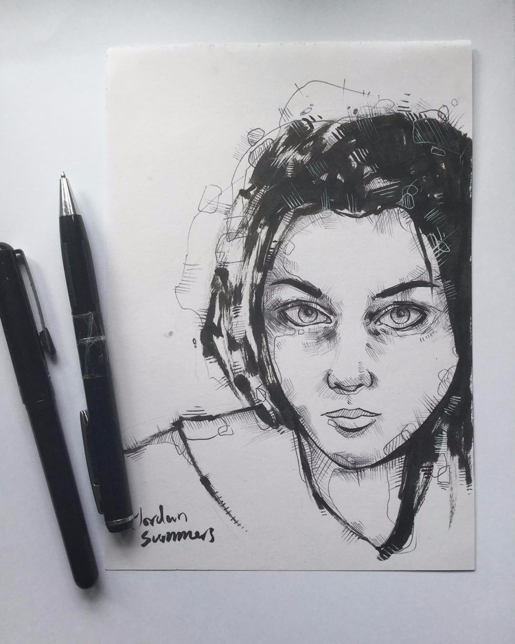 small a5 ink sketch drew - artwork - jordansummers | ello