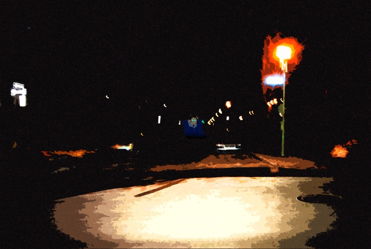 Dark Street - Montreal, downtown - mangekkojones | ello