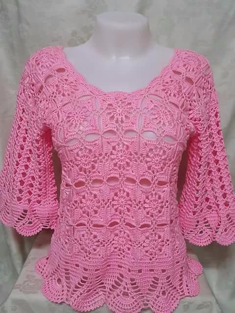 beautiful crochet blouse, simpl - brunacrochet | ello