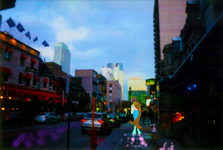 Glittering Sight sky - girl, magic - mangekkojones | ello