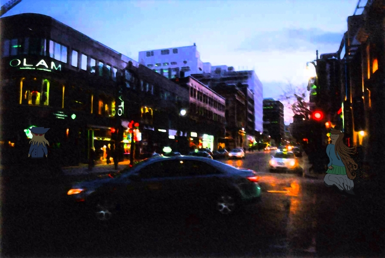 Late Evening Stare - Montreal, city - mangekkojones | ello