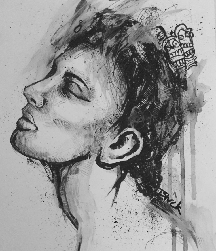 Expressive pen ink drawing mont - jordansummers   ello