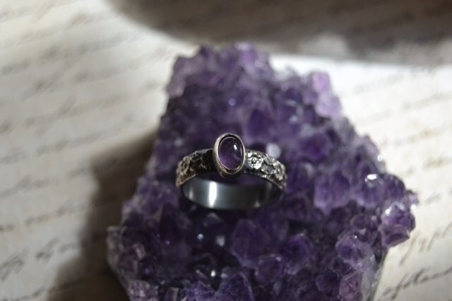 added amethyst ring shop creati - nightsunjewelry | ello