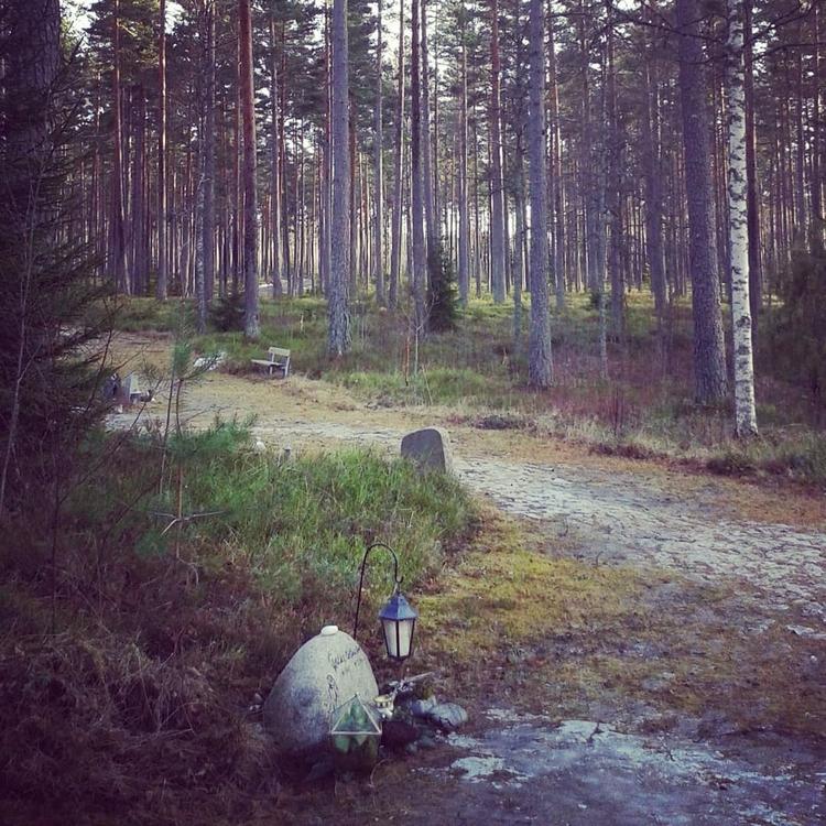 Lyktor... Skogskyrkogården Eksj - skogskyrkogardar | ello
